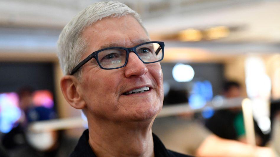 Hat gut lachen: Apple-Chef Tim Cook bekam zum Firmenjubiläum ein Aktienpaket