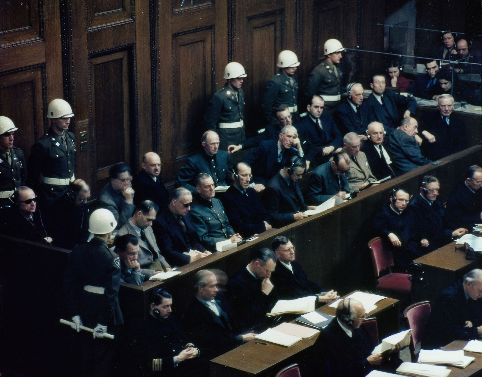Nürnberger Hauptprozess: Anklagebank
