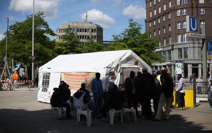 Lampedusa-Zelt in Hamburg (Archivbild)