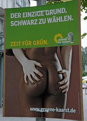 The Greens election poster in the German town of Kaarst.