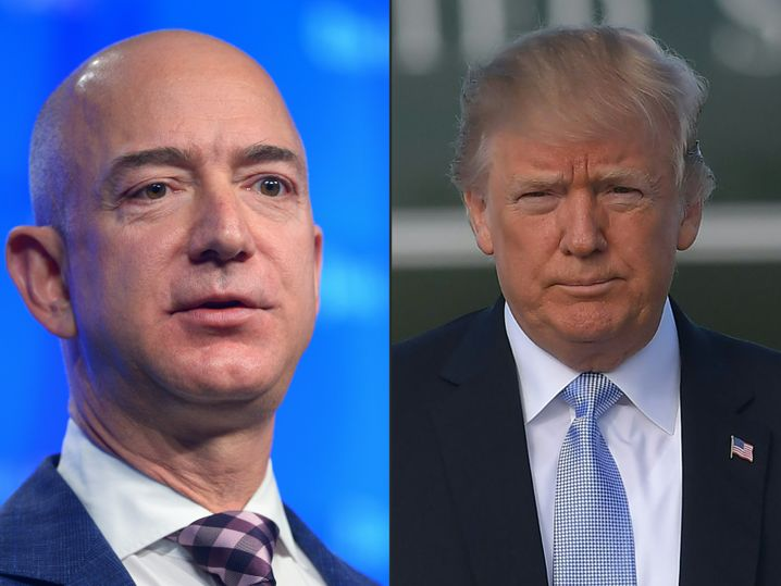 Jeff Bezos, Donald Trump