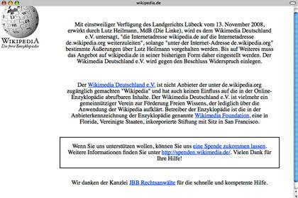 Screenshot von wikipedia.de