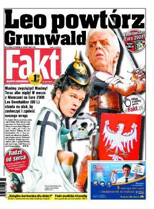 """Titelseite der polnischen Boulevardzeitung """"Fakt"""": """"Leo wiederhole Grunwald!"""""""