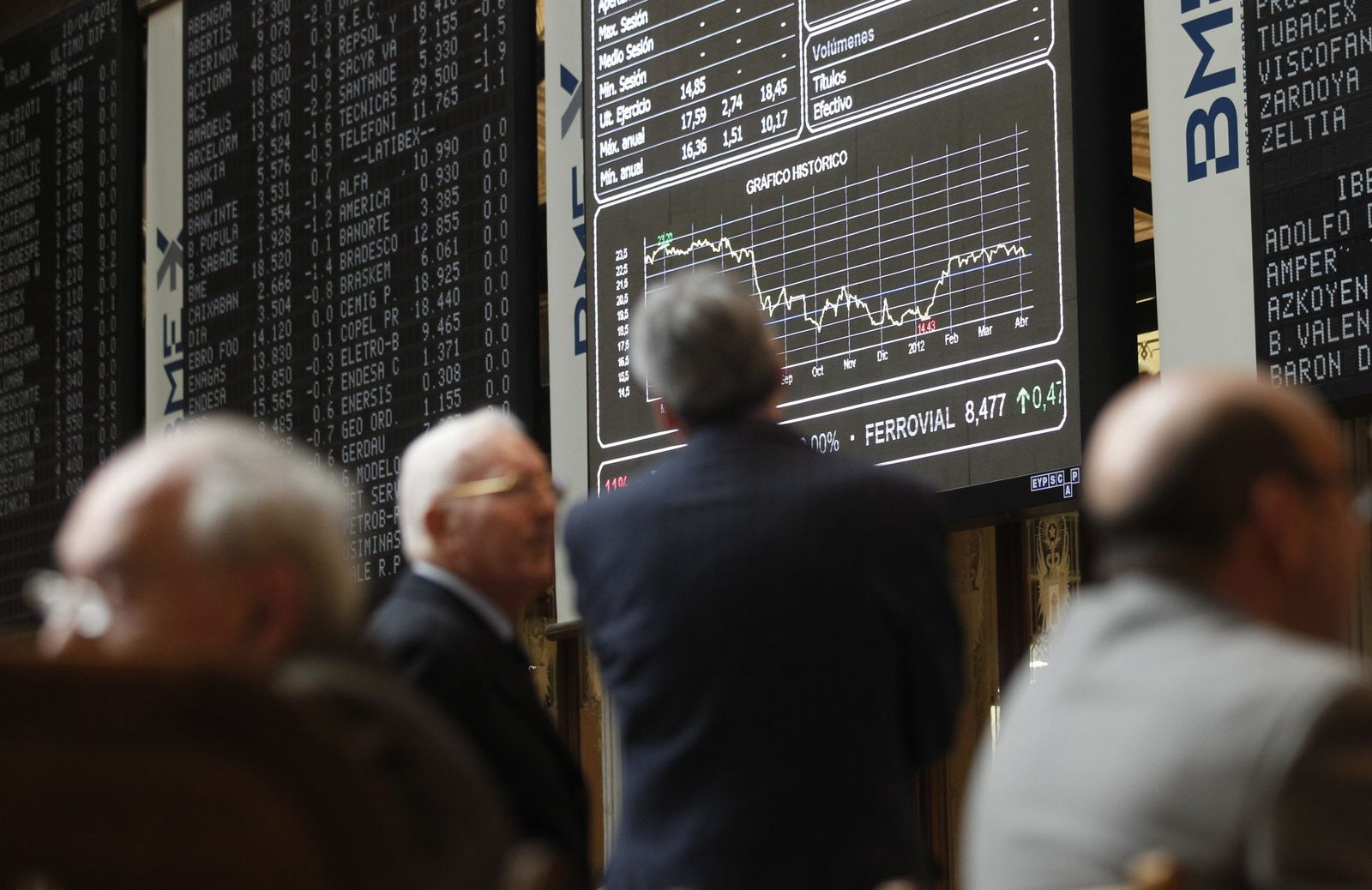 Börse / Madrid / Spanien