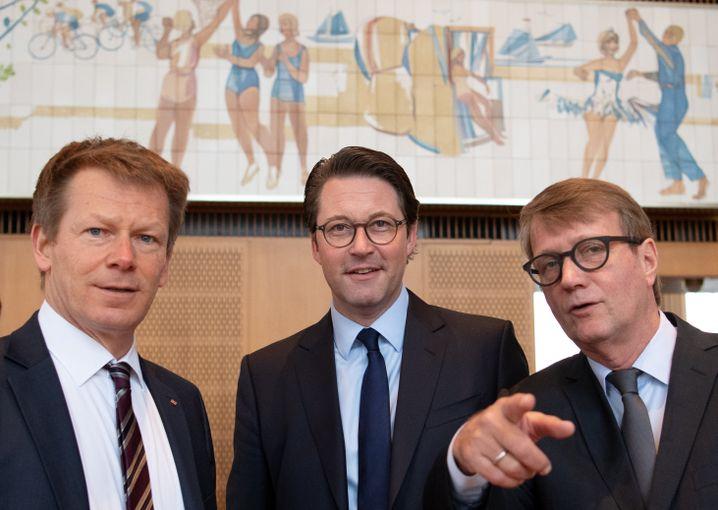 Richard Lutz, Andreas Scheuer und Ronald Pofalla