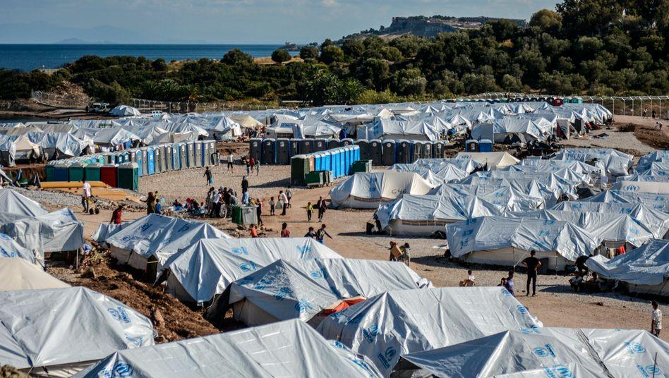Flüchtlingslager Kara Tepe auf der Insel Lesbos (Archivfoto)