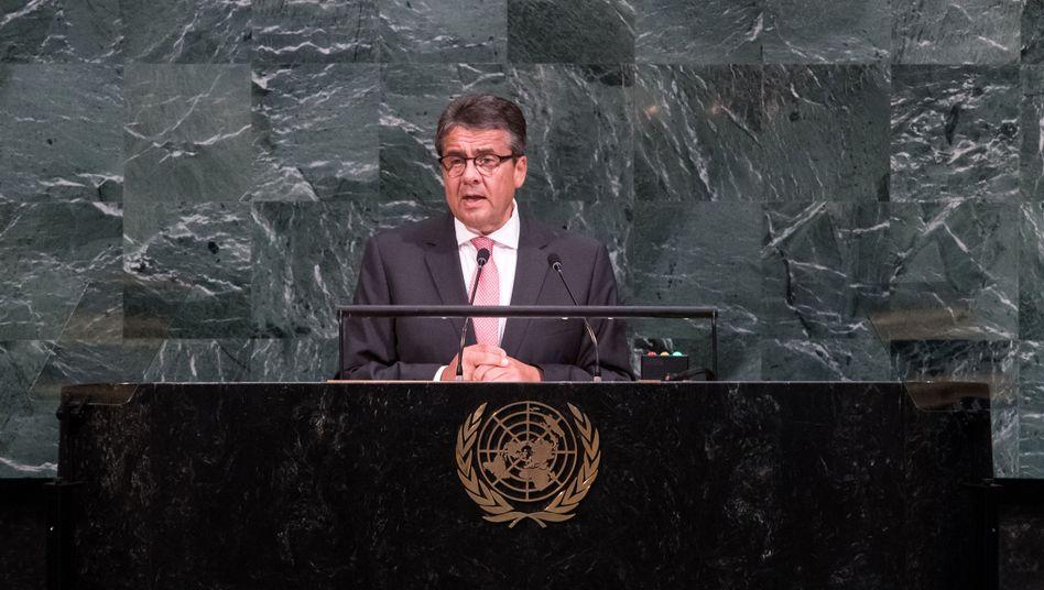 Außenminister Sigmar Gabriel (SPD) vor Uno-Vollversammlung