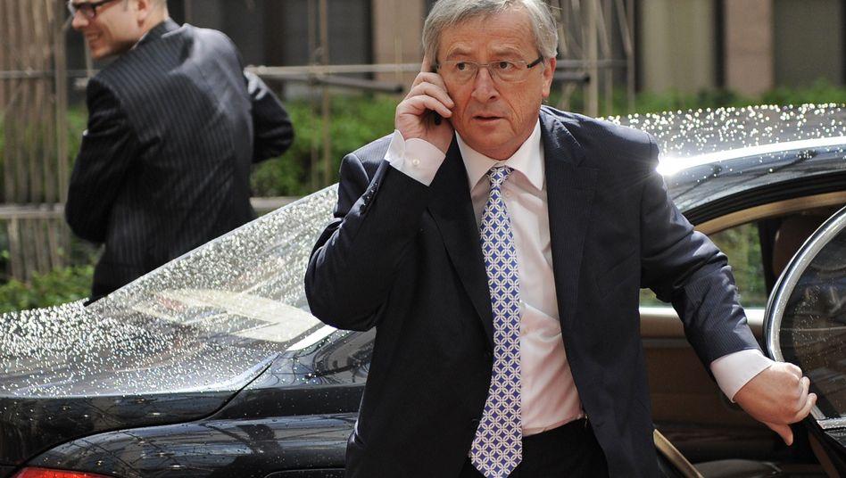 Eurozonen-Präsident Juncker in Brüssel: 80 Milliarden von Europa, 20 Milliarden vom IWF