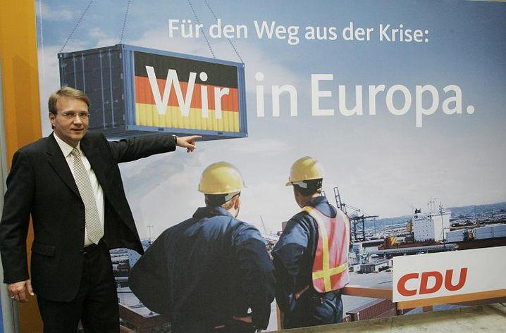 """Was die CDU auf ihren Wahlplakaten zeigt, findet Kommunikationswissenschaftlerin Holtz-Bacha """"nur langweilig"""""""