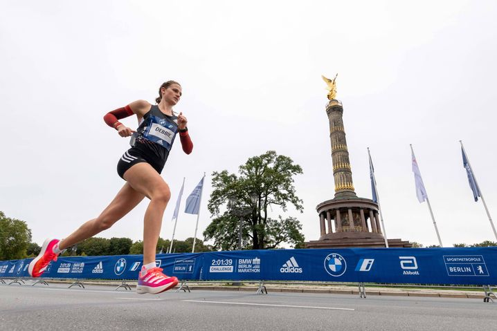 Deborah Schöneborn at a marathon event in Berlin in September 2020
