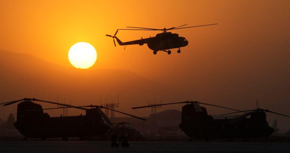 US-Militärhubschrauber in Kabul