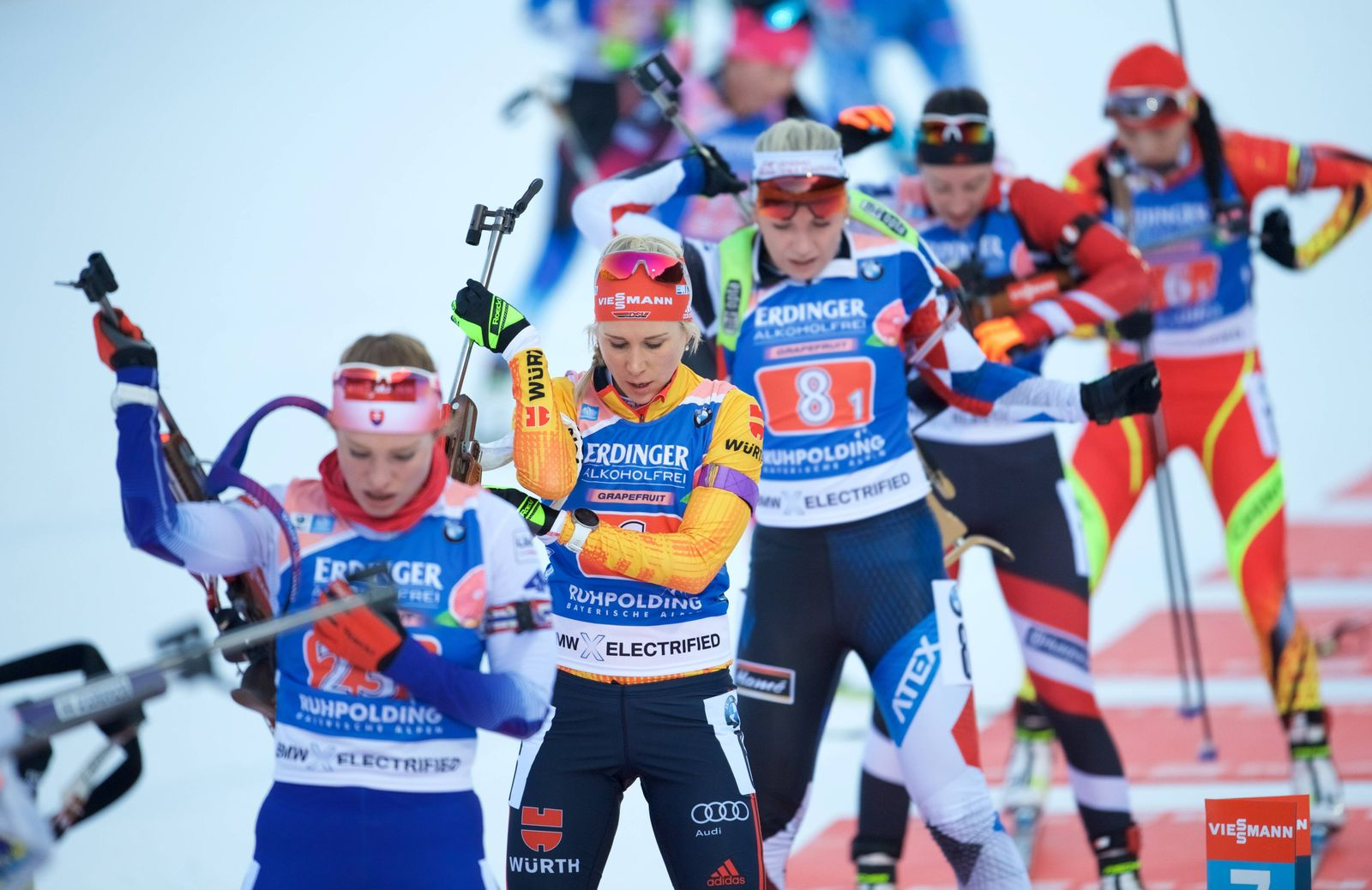 Biathlon Ruhpolding / GER 17.01.2020 IBU Worldcup Cup Woman /Frauen/ Damen STAFFEL 4 x 6 km HORCHLER Karolin GER *** Bi