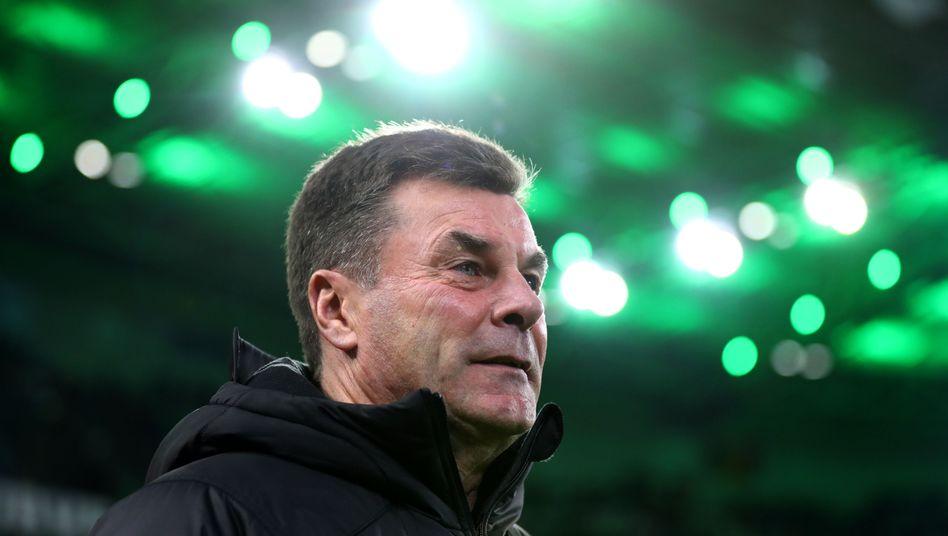 Borussia Mönchengladbachs Trainer Dieter Hecking