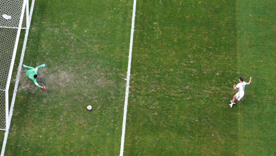 Müller beim Elfmeter gegen Portugal: Trefferquote von 100 Prozent