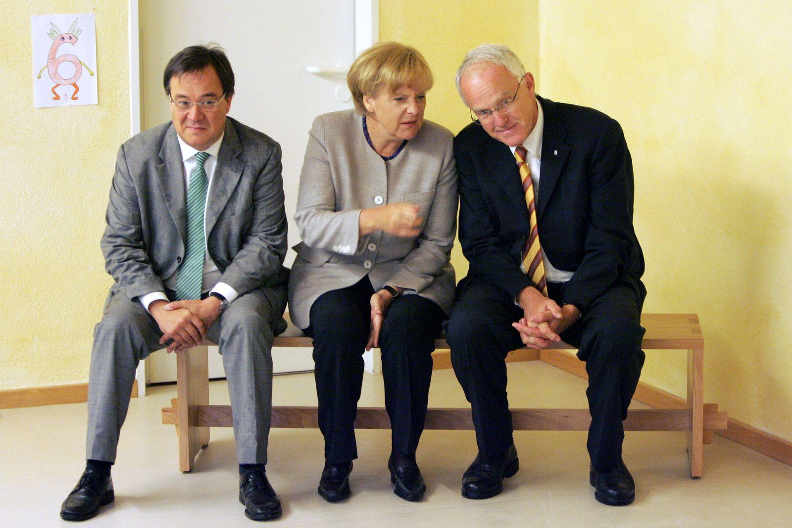 NICHT VERWENDEN Laschet / Merkel / Rüttgers