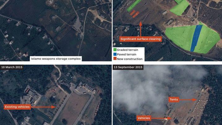 Satellitenfotos: Russland baut Militärpräsenz aus