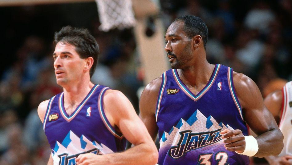 Kein NBA-Duo kommt auf mehr gemeinsame Einsätze als John Stockton und Karl Malone (1412 Partien in der regulären Saison)