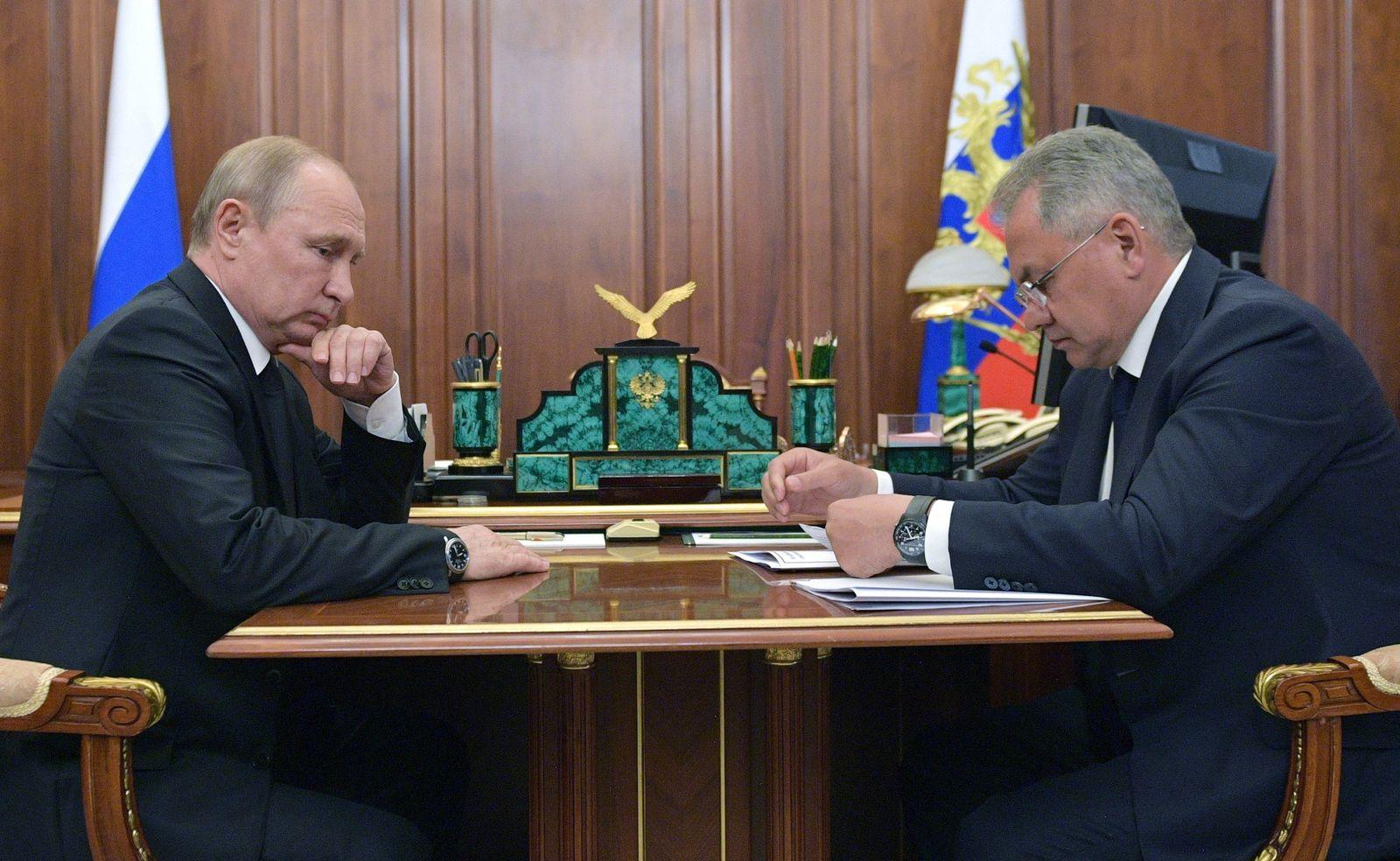 Wladimir Putin und Sergej Schoigu