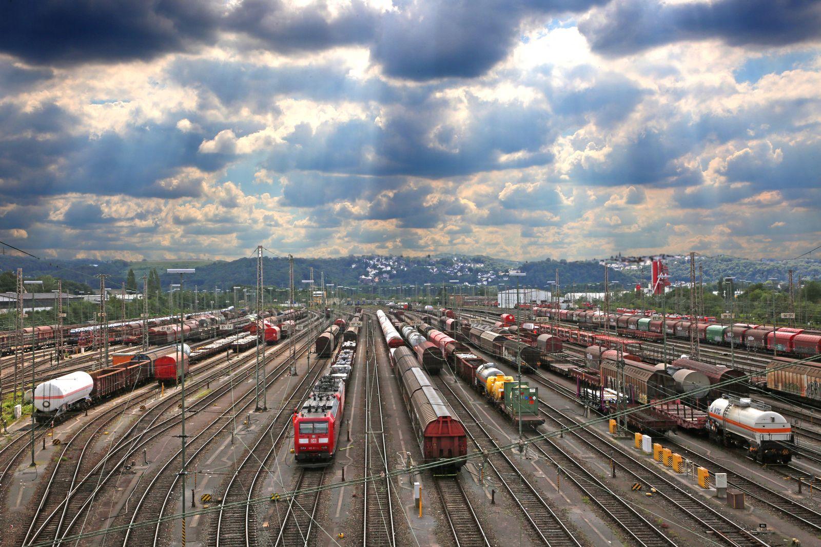 Die gro?en Rangierbahnh?fe Deutschlands BEARBEITET: PANORAMA: Gesellschaft;Mobilit?t;Verkehr;Schienenverkehr;Bahnverkehr