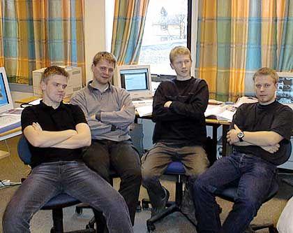 Studentisches Forscher-Quartett: Noch hat keiner das Licht gesehen