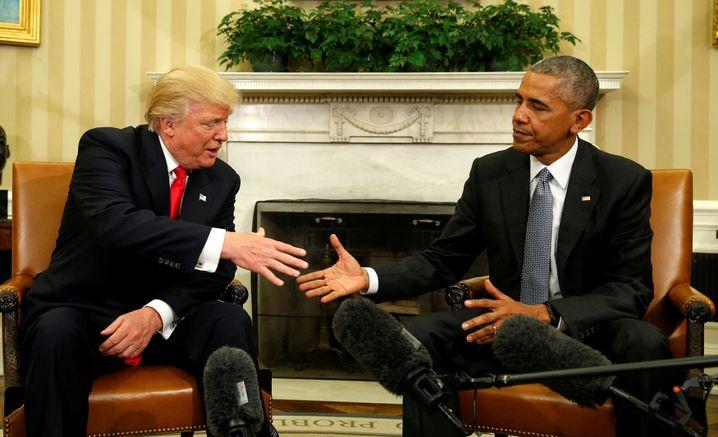 Donald Trump und Barack Obama in Washington am 10. November 2016