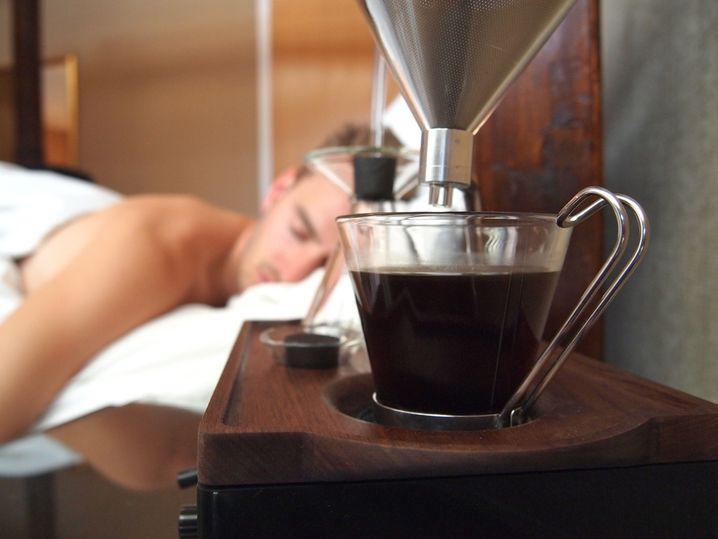 Wecker The Barisieur: Mit Kaffee stilvoll geweckt werden