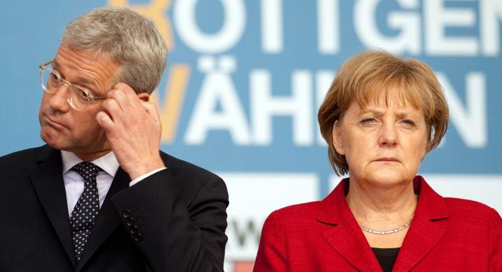 Wahlverlierer Norbert Röttgen 2012, Bundeskanzlerin Angela Merkel