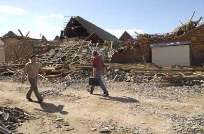 Windhose über Micheln: 275 Gebäude in Sachsen-Anhalt beschädigt