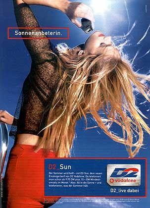 """Vorjahres-Finalist Vodafone: Ausgerechnet mitten im Herbst ging D2 Vodafone mit Slogans wie """"Telefonieren, was der Sommer hält"""" und """"Der Sommer wird heiß"""" auf Kundenfang - dumm geworben."""