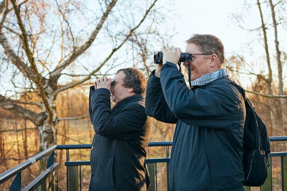 Ornithologen-Duo K. & K. Krischer war meist schneller beim Vogelartenbennenen.
