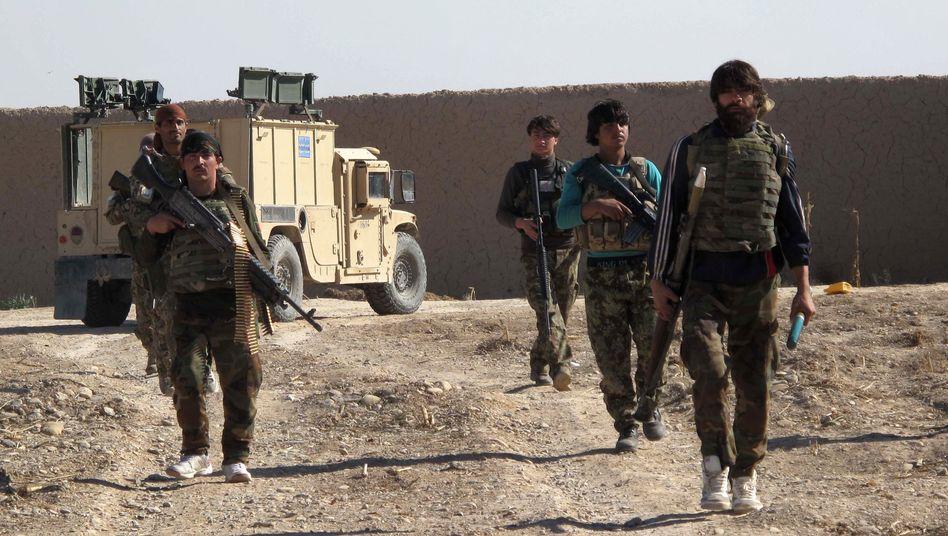 Afghanische Soldaten in Helmand: Sicherheitskräfte ziehen sich zurück