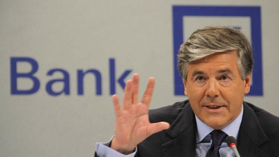 """Deutsche-Bank-Chef Ackerman: """"Kein Grund, von unserem Gewinnziel abzurücken"""""""
