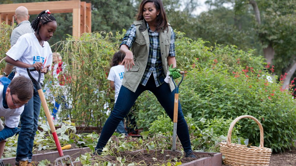 Im Garten hinterm Weißen Haus: Die Kartoffeln der First Lady