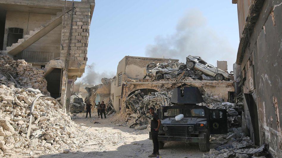 Irakische Truppen in Mossul