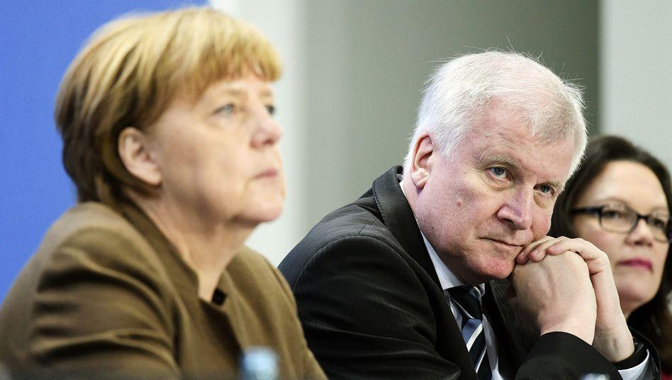 Parteichefs Merkel, Seehofer, Nahles