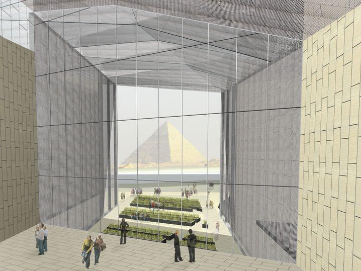 Blick aus dem neuen Museum