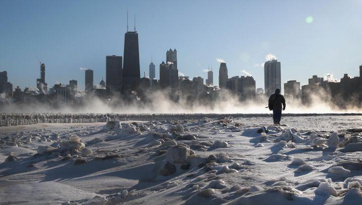 """USA: """"Arktische Kälte"""" im Mittleren Westen"""