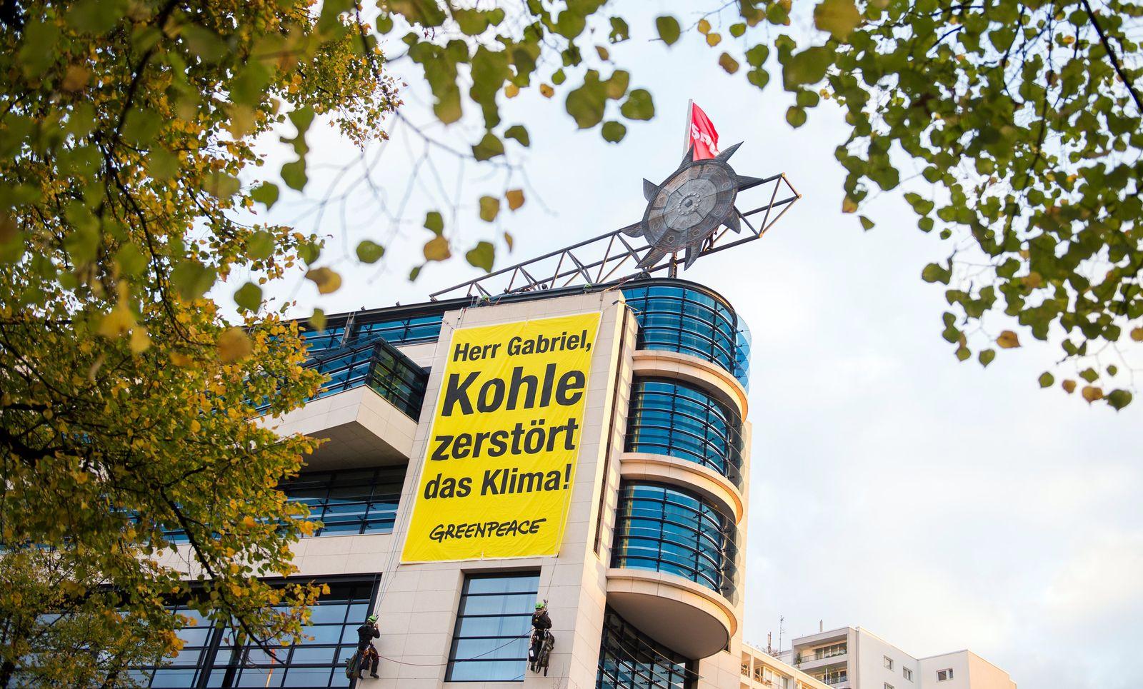 Greenpeace besetzt SPD-Zentrale