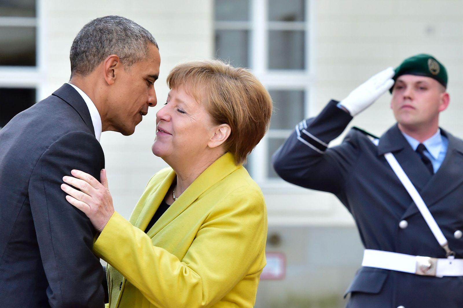 Barack Obama/ Angela Merkel/ Herrenhausen