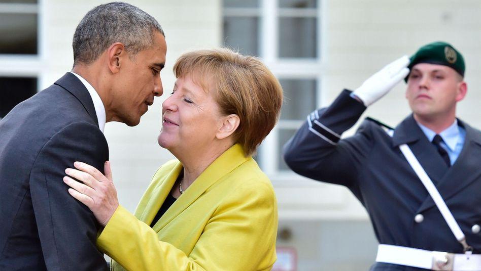 Barack Obama, Angela Merkel in Hannover, April 2016