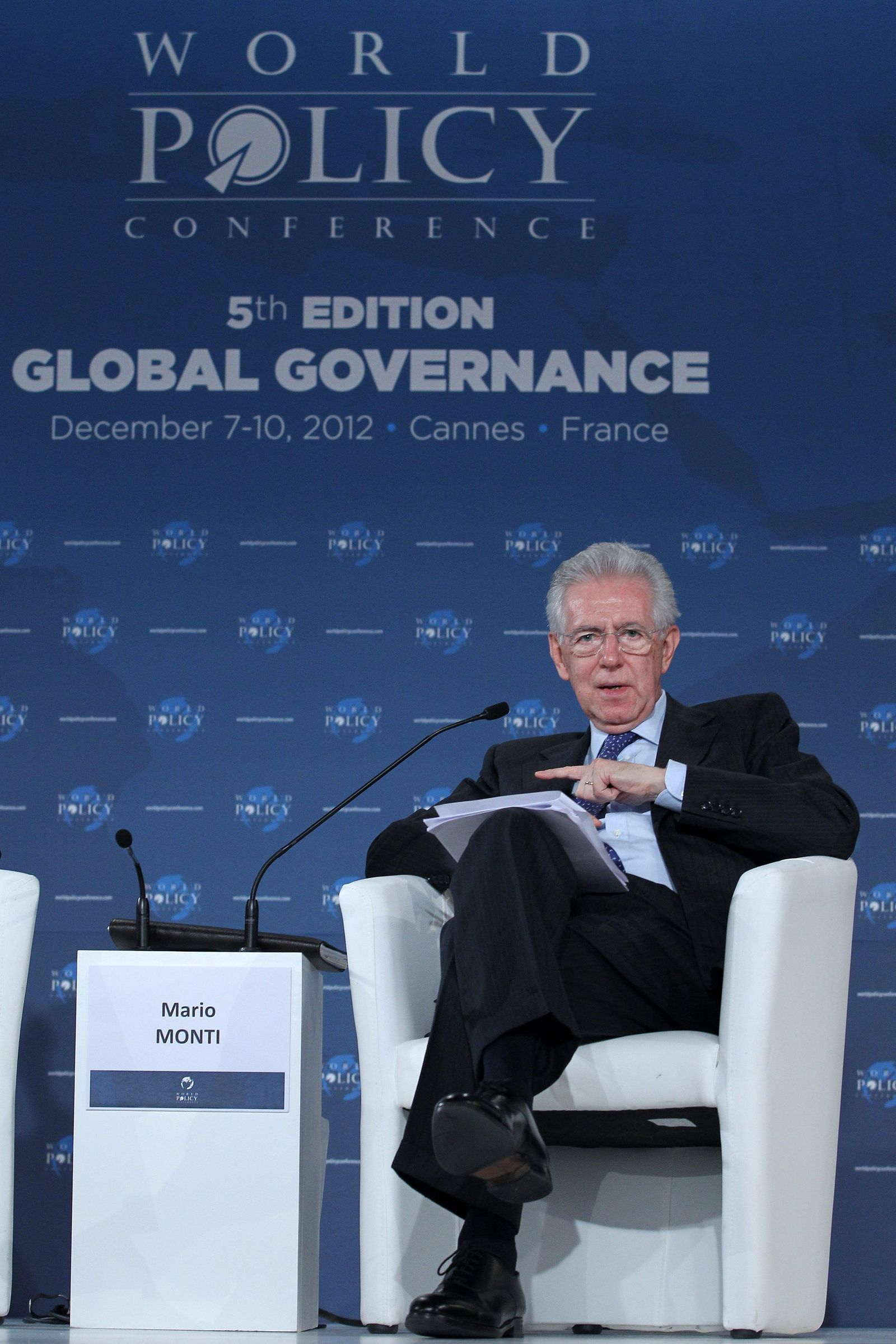 Mario Monti 5th World Policy Conference in Cannes