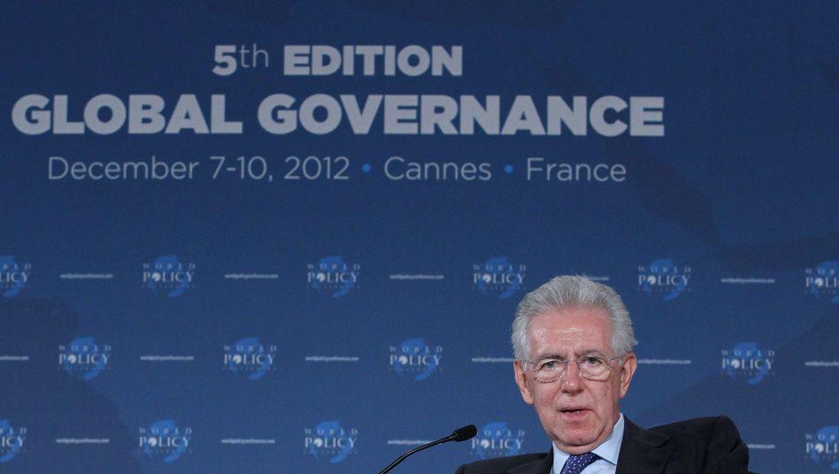 Im Clinch mit der Berlusconi-Partei: Italiens Premier Mario Monti plant seinen Rücktritt