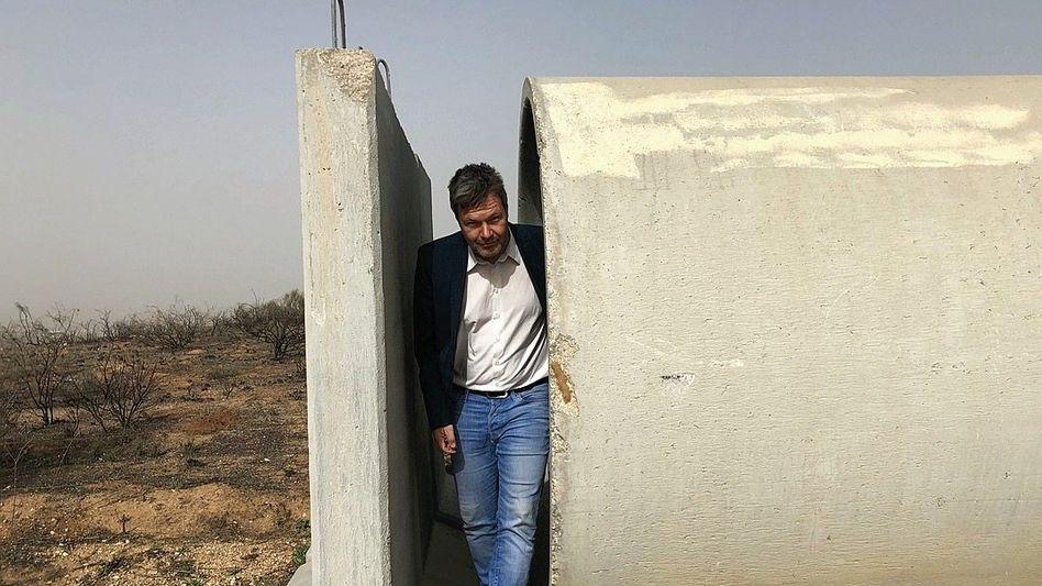 Habeck im Bunker an der Grenze zu Gaza
