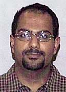 Das letzte Bild von Marwan al-Shehhi, veröffentlicht vom FBI nach den Anschlägen