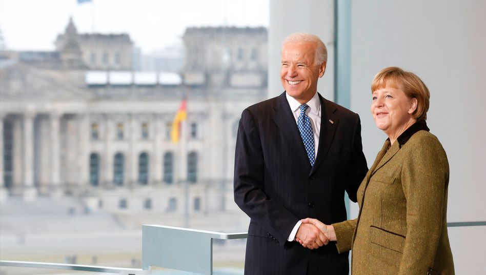 Damaliger US-Vizepräsident Joe Biden, Kanzlerin Angela Merkel 2013 in Berlin