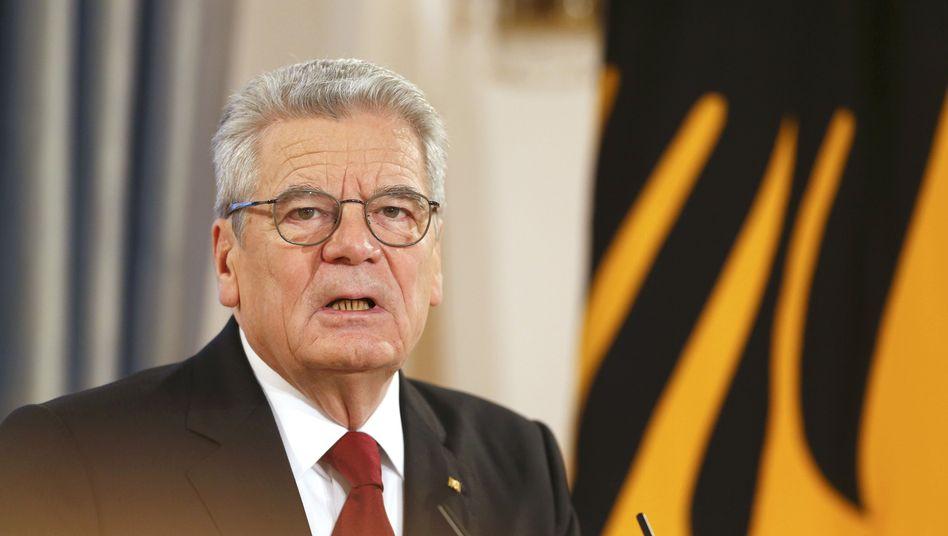 """Gauck zu""""Charlie Hebdo"""": """"Wir sind weder ohnmächtig noch hilflos"""""""