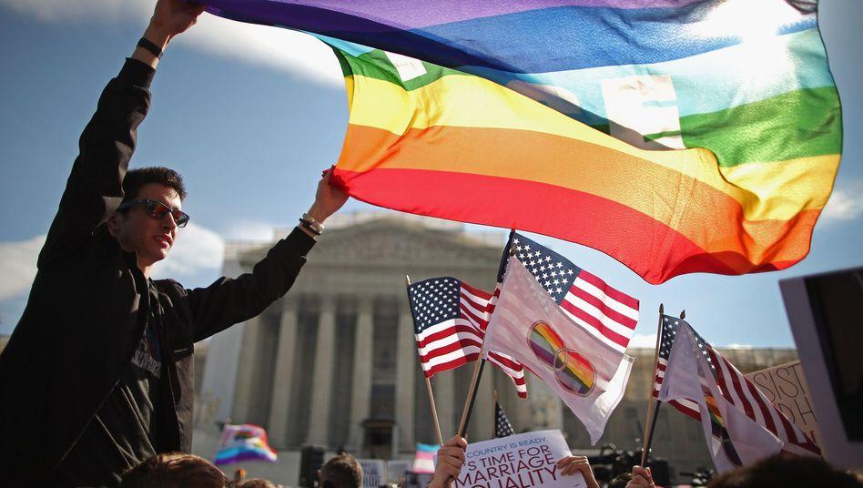 """Demonstration vor dem Supreme Court: """"Du bist England, wir sind Amerika!"""""""
