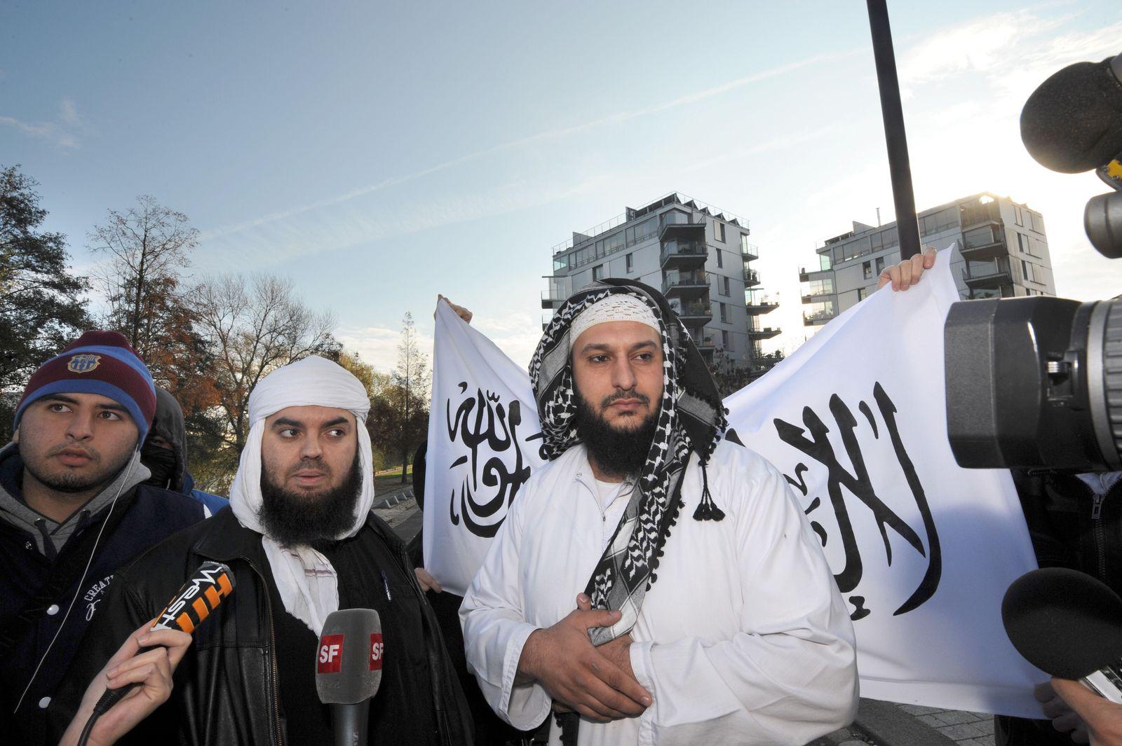 Spontan-Demo gegen Burka-Verbot