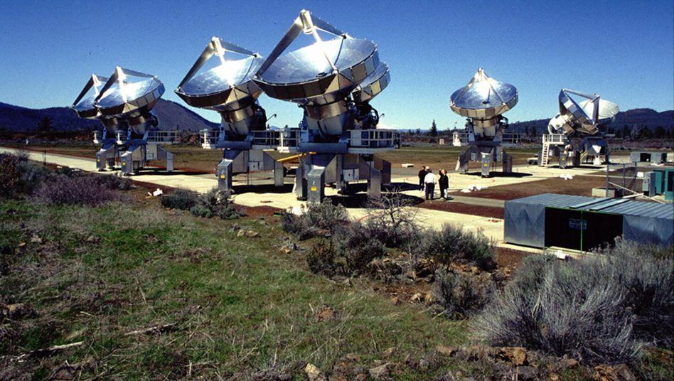 Suche nach Leben im All: Allen Telescope Array in Shasta County bei San Francisco