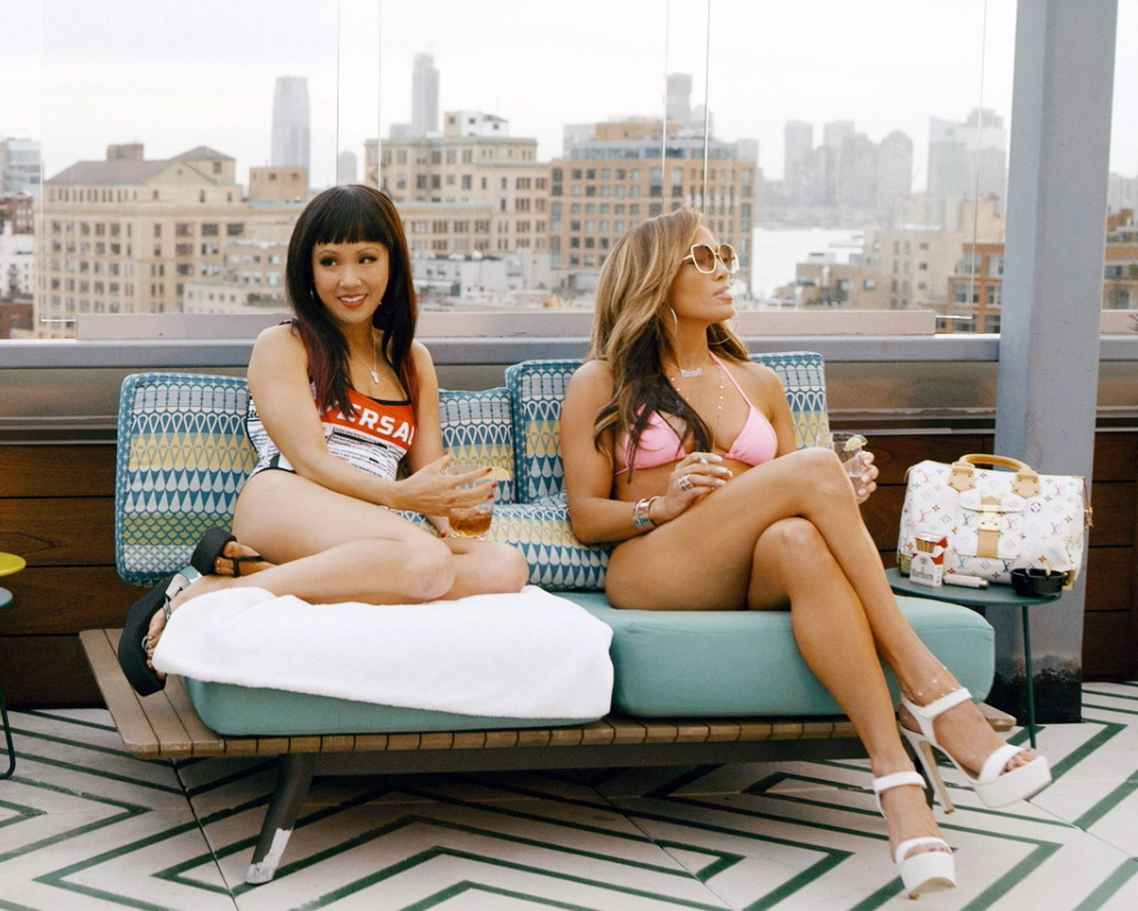 HUSTLERS, from left: Constance Wu and Jennifer Lopez, 2019. STX Entertainment /Courtesy Everett Collection For usage cre